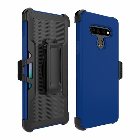 Picture of SYB Dual Shield Case w Holster for LG Stylo 6, Reflex Blue