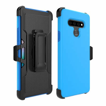 Picture of SYB Dual Shield Case w Holster for Stylo 6, Soft Blue