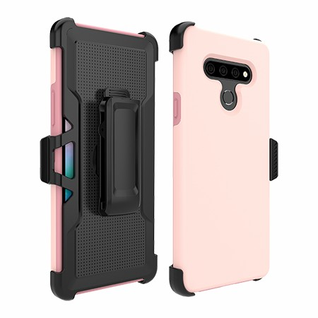 Picture of SYB Dual Shield Case w Holster for Stylo 6, Soft Pink