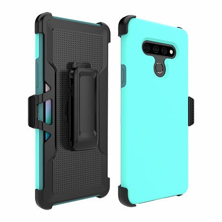 Picture of SYB Dual Shield Case w Holster for Stylo 6, Teal