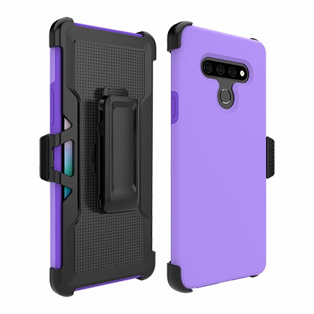 Picture of SYB Dual Shield Case w Holster for Stylo 6, Violet