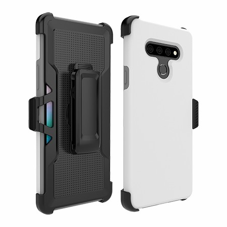 Picture of SYB Dual Shield Case w Holster for Stylo 6, White