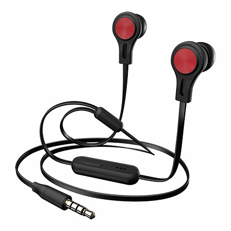Picture of BX160 Black Precision Sound In-Ear Headphones, Red