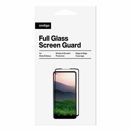 Picture of Full Coverage Glass Screen Guard for Moto G Stylus