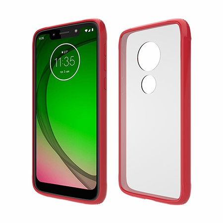 Picture of Glass Series Case for Moto G7 Play, Red