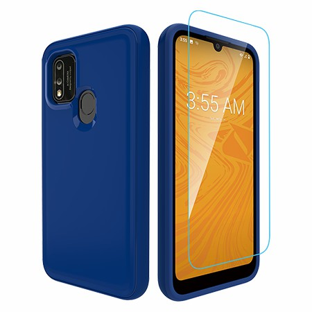 Picture of Intact Case for Coolpad Suva w/Glass Screen Guard, Reflex Blue