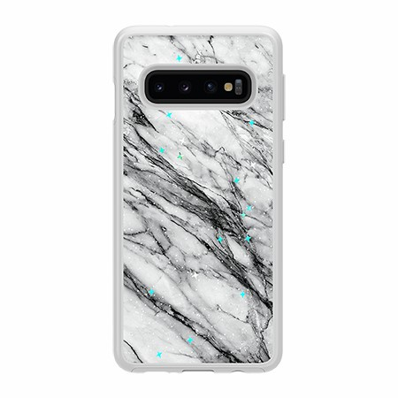 Picture of Sparkle Marble Case for Samsung Galaxy S10, Black & White