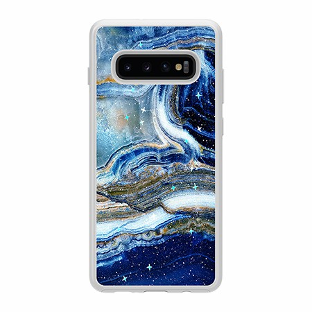 Picture of Sparkle Marble Case for Samsung Galaxy S10+, Blue Sea