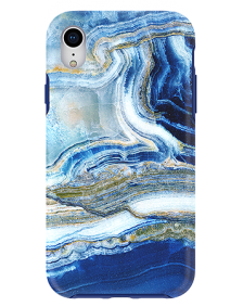 Picture of Apple iPhone XR Marble Series Case, Blue Sea