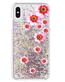 Picture of Apple iPhone Xs Max Motion Series Case, Pink Flower