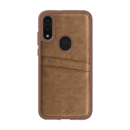 Picture of Alpha Series Case for Moto E (2020), Suede Brown