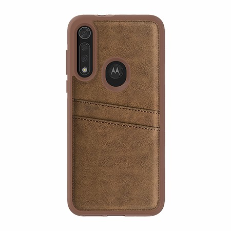 Picture of Alpha Series Case for Moto G8 Fast, Suede Brown