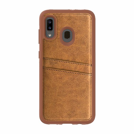 Picture of Alpha Series Case for Samsung A20, Suede Brown