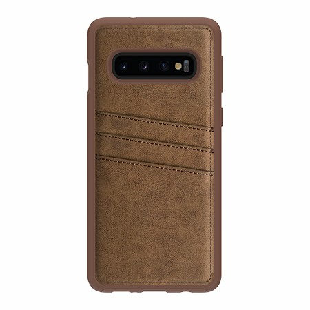 Picture of Alpha Series Case Samsung Galaxy S10, Suede Brown