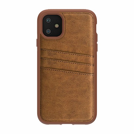 Picture of Alpha Series Case for iPhone 11, Suede Brown