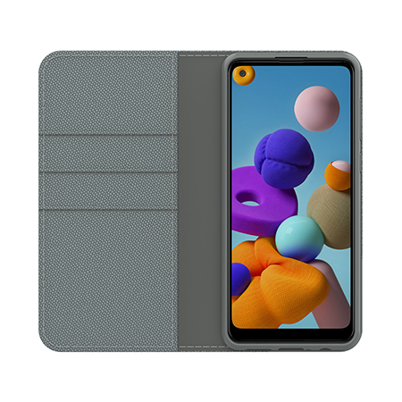 Picture of Folio Series Case for Samsung A21, Grey