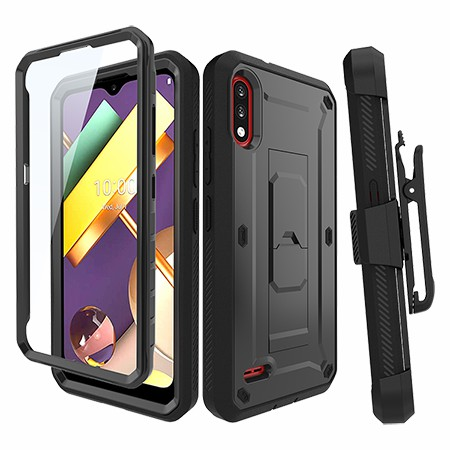Picture of Max Impact Kickstand Case w/Holster for LG K22, Black