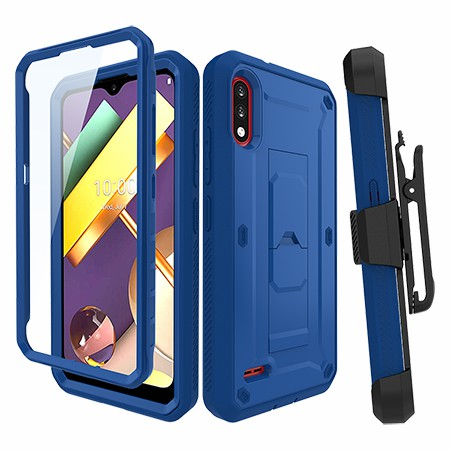 Picture of Max Impact Kickstand Case w/Holster for LG K22, Reflex Blue