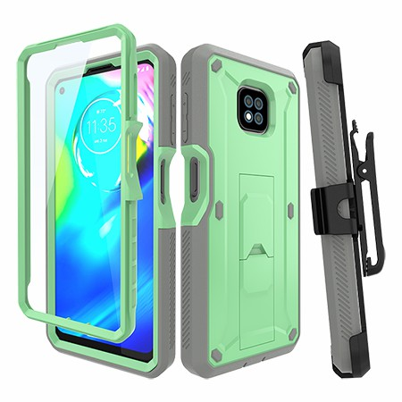 Picture of Max Impact Kickstand Case w/Holster for Moto G Power, Mint