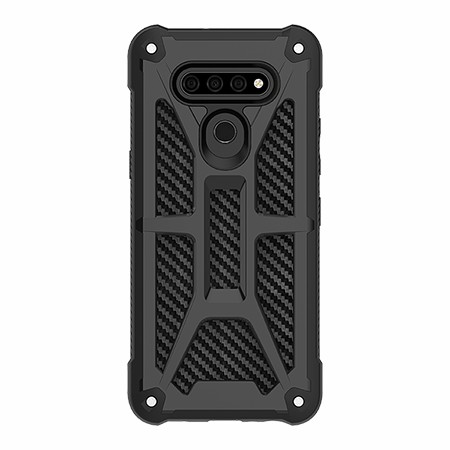 Picture of Supreme Armor Case for LG K51, Black Carbon