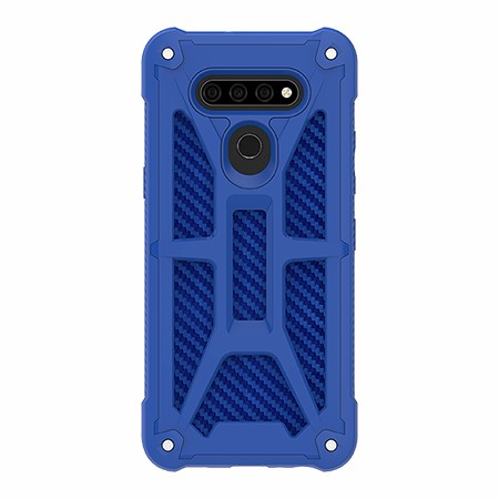 Picture of Supreme Armor Case for LG K51, Blue Carbon