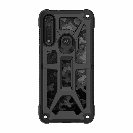 Picture of Supreme Armor Case for Moto G8 Fast, Black Camo