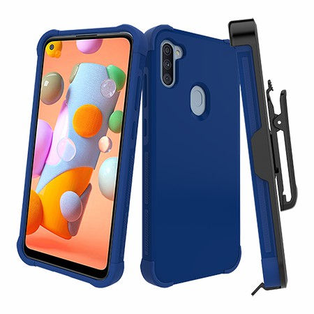 Picture of Secure Impact Case w Holster for Samsung A11, Blue