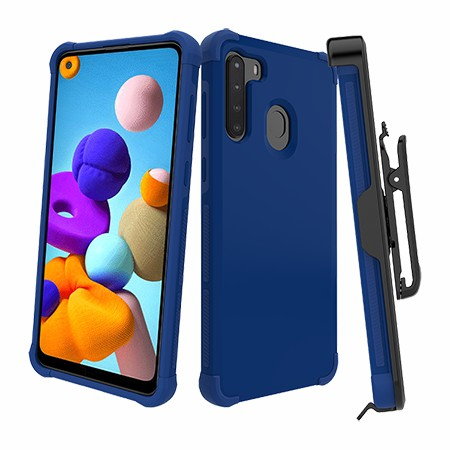 Picture of Secure Impact Case w Holster for Samsung A21, Blue
