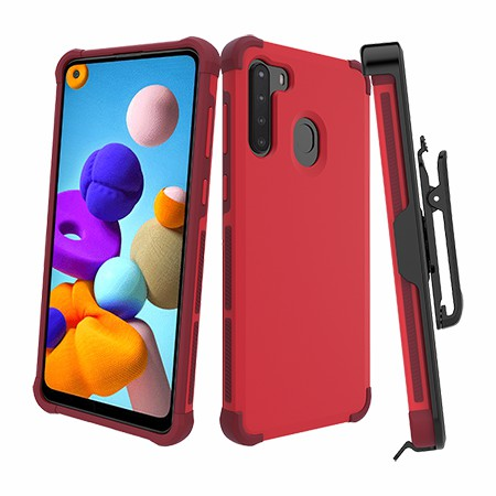 Picture of Secure Impact Case w Holster for Samsung A21, Red