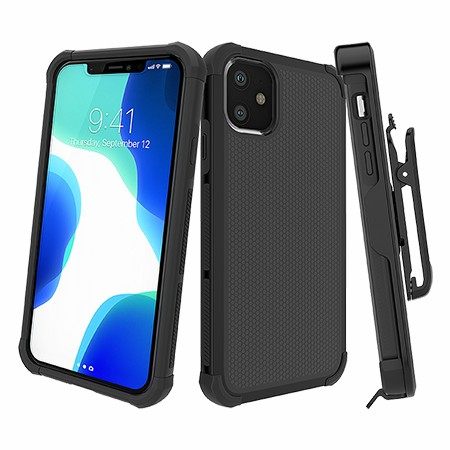 Picture of Secure Impact w Holster for iPhone 11, Black