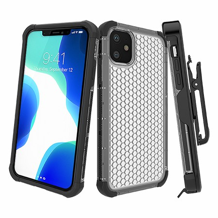 Picture of Secure Impact w Holster for iPhone 11,Clear Black