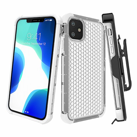 Picture of Secure Impact w Holster for iPhone 11,Clear White