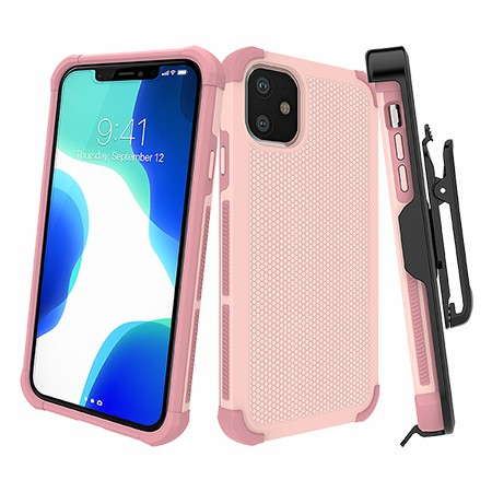 Picture of Secure Impact w Holster for iPhone 11, Soft Pink