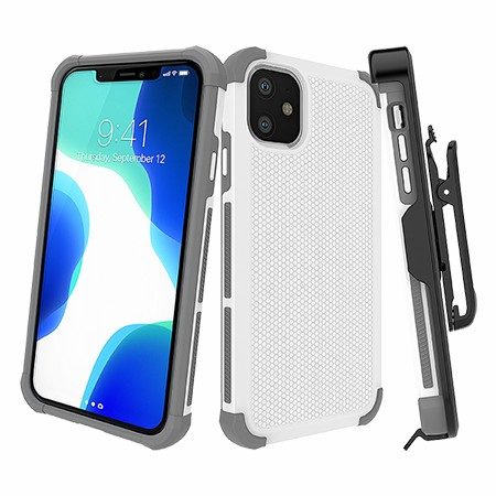 Picture of Secure Impact w Holster for iPhone 11, White
