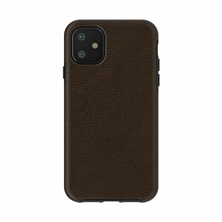 Picture of Supreme Leather Case for iPhone 11, Deep Brown