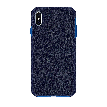 Picture of Supreme Leather Case for iPhone Xs Max, Dark Blue