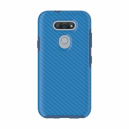 Picture of Supreme Series Case for LG Tribute Monarch, Blue Carbon Fiber