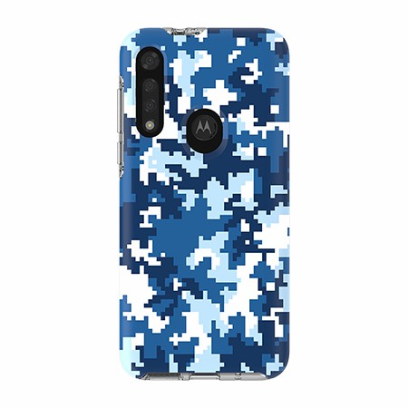 Picture of Supreme Series for Moto G8 Fast, Blue Pixel Camo