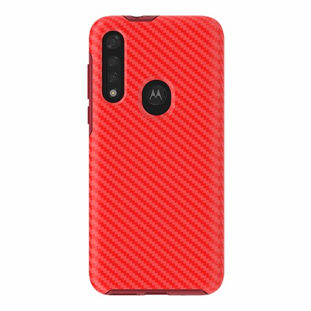 Picture of Supreme Series for Moto G8 Fast, Red Carbon Fiber