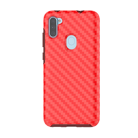 Picture of Supreme Series Case for Samsung A11, Red Carbon Fiber