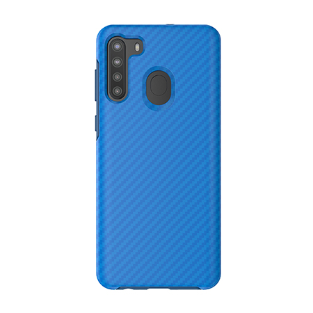 Picture of Supreme Series Case for Samsung A21, Blue Carbon Fiber