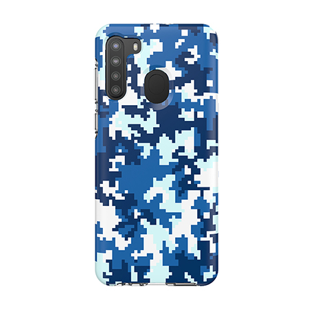 Picture of Supreme Series Case for Samsung A21, Blue Pixel Camo