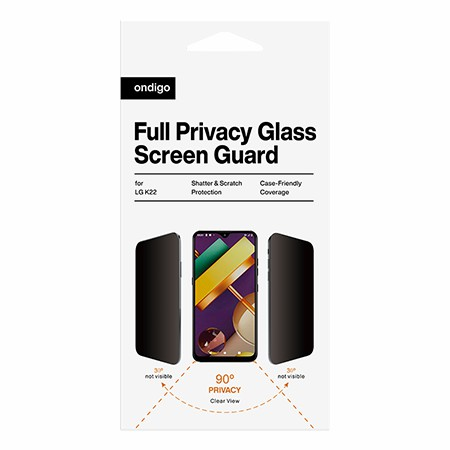 Picture of Full Privacy Glass Screen Guard for LG K22