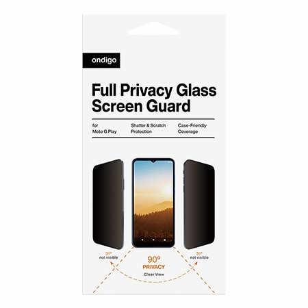 Picture of Full Privacy Glass Screen Guard for Moto G Play