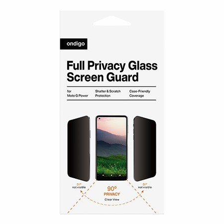 Picture of Full Privacy Glass Screen Guard for Moto G Power