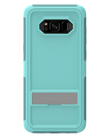 Picture of Samsung Galaxy S8 B-Tact Case with Kickstand, Teal and Dark Green (Boost Mobile)