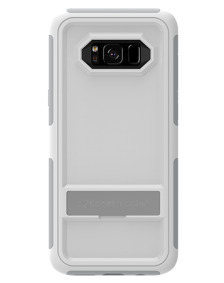 Picture of Samsung Galaxy S8 B-Tact Case with Kickstand, White and Grey (Boost Mobile)