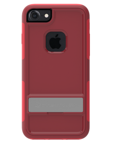 Picture of Apple iPhone 7 & 8 B-Tact Case with Kickstand, Dark Red & Red (Boost Mobile)
