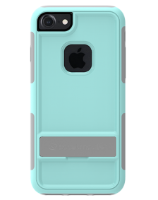 Picture of Apple iPhone 7 & 8 B-Tact Case with Kickstand, Sea Foam & Light Grey (Boost Mobile)