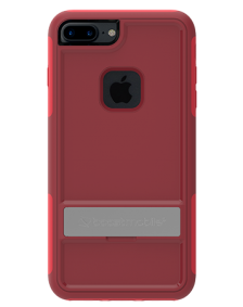 Picture of Apple iPhone 7 Plus B-Tact Case with Kickstand, Dark Red & Red (Boost Mobile)